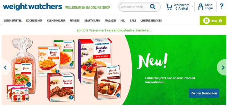 Weight watchers online zum treffen