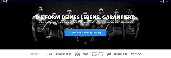 Freeletics Webseite