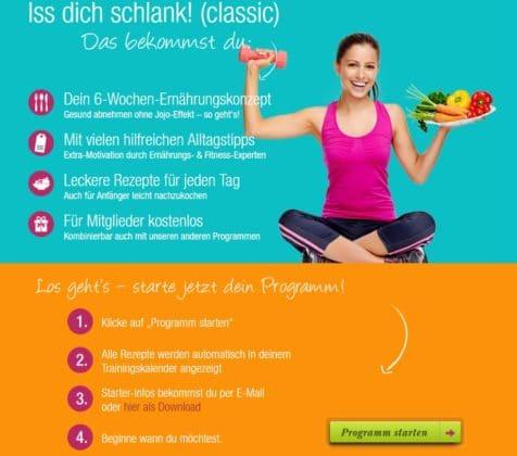 fitnessRAUM Iss dich schlank Programm