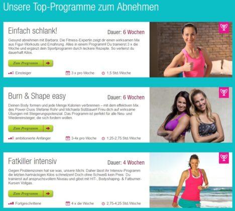fitnessRAUM Programme Abnehmen