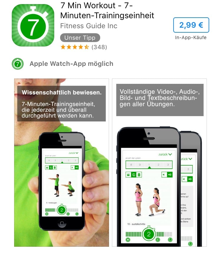 besten fitness apps im test f r ios und android. Black Bedroom Furniture Sets. Home Design Ideas