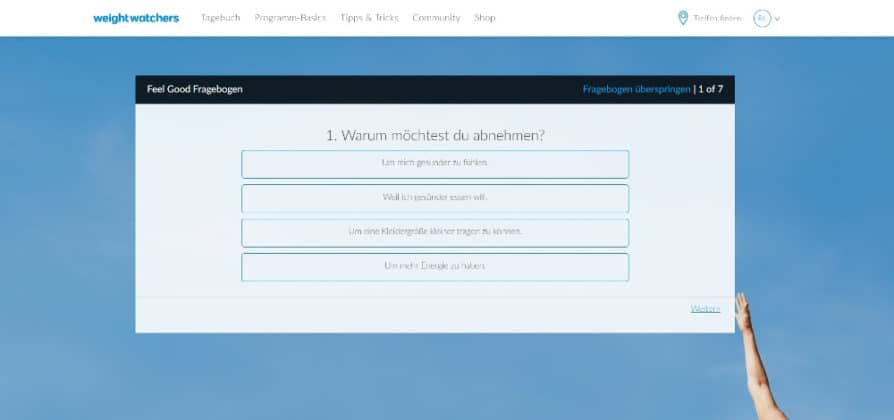 Weight Watchers Feel Good Fragebogen 1