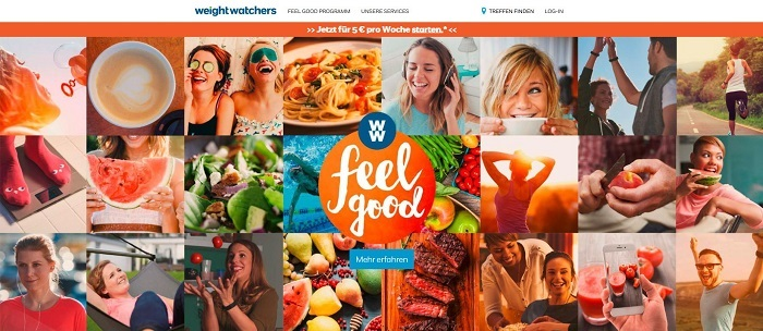 Weight Watchers Online Webseite
