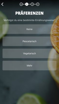 Freeletics Nutrition App