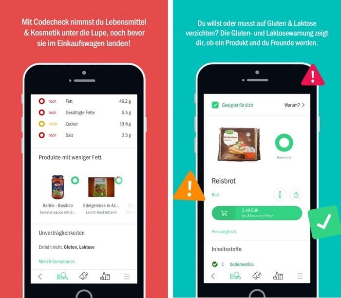 Codecheck Lebensmittel App