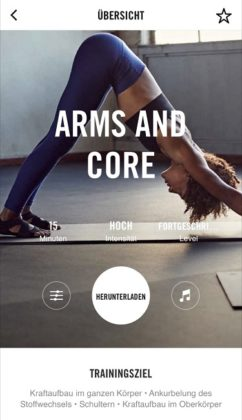 Nike+ Training Club App Arms and Core Workout