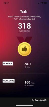 Workout Ergebnisse
