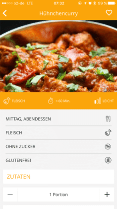 Gymondo Rezept Curry