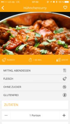 Gymondo Rezept Curry