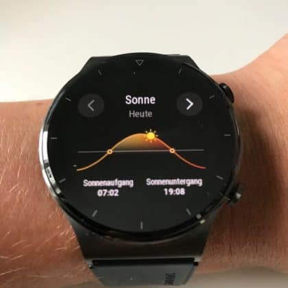 Huawei Watch GT 2 Pro Sonnenaufgang Sonnenuntergang