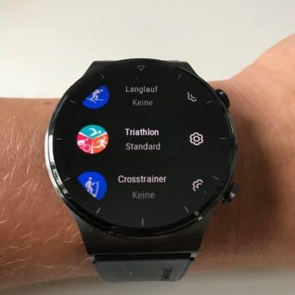 Huawei Watch GT 2 Pro verschiedene Sportmodi